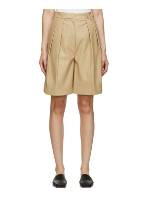 LVIR faux-leather pleated shorts