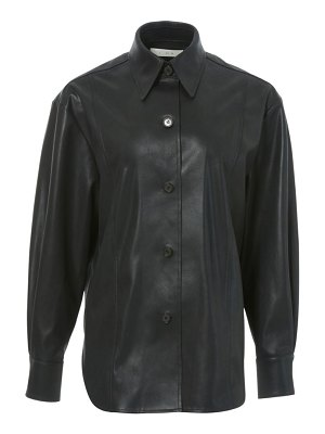 LVIR faux-leather shirt