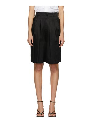 LVIR pleated satin shorts