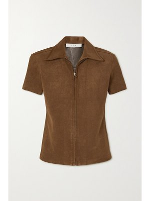 LVIR reversible faux suede and leather shirt