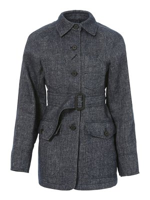 LVIR signature stitch wool & linen-blend jacket
