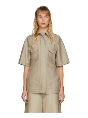 LVIR structured short sleeve shirt