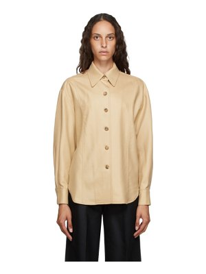 LVIR tan wool oversized shirt