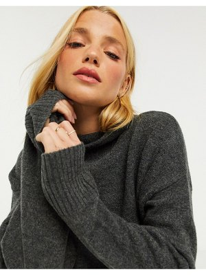 M Lounge ultimate high-neck sweater with exposed seams-gray
