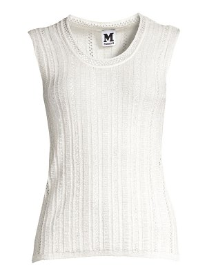 M Missoni crochet knit tank top