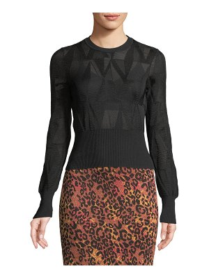 M Missoni Geometric-Mesh Crop Top