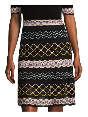 M Missoni ribbon wave stripe skirt