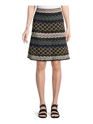 M Missoni Ribbon Wave Striped A-line Skirt