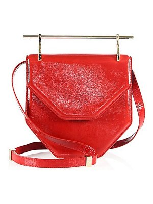 M2Malletier amor fati patent leather shoulder bag