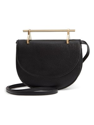 M2Malletier half moon lux calfskin leather crossbody bag