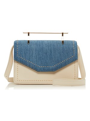 M2Malletier indre leather and denim bag
