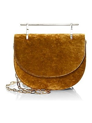 M2Malletier mini half moon leather crossbody bag