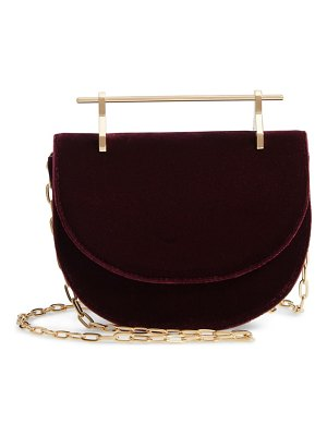 M2Malletier mini half moon velvet crossbody bag