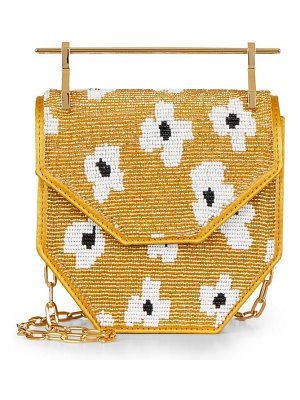 M2Malletier x pura utz mini amor fati floral beaded top handle bag