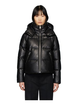 Mackage down and leather short jacket