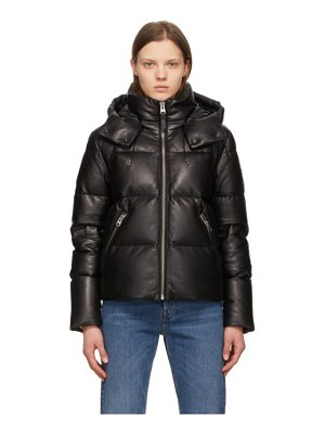 Mackage down leather tory jacket