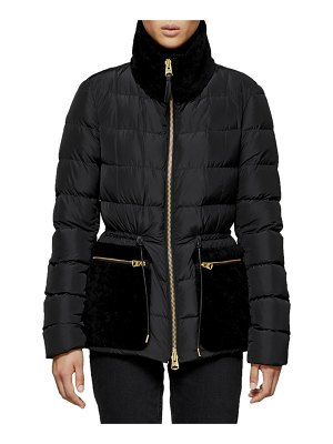 Mackage Elise Down-Fill Jacket w/ Fur Pockets