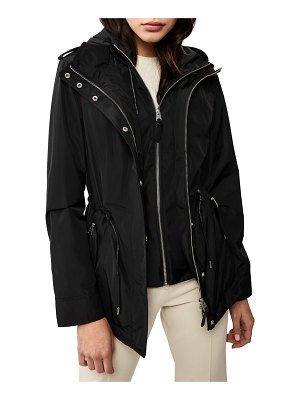 Mackage Melita Hooded Rain Jacket w/ Covered Placket