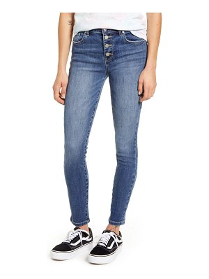 MADE IN BLUE button fly skinny jeans