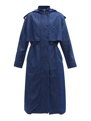 Made In Tomboy anouk hooded denim trench coat