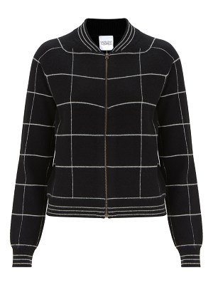 Madeleine Thompson jedha striped cashmere bomber