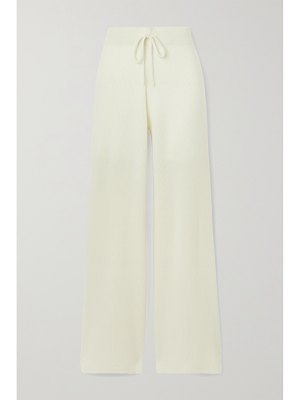 Madeleine Thompson temple of doom ribbed cashmere track pants