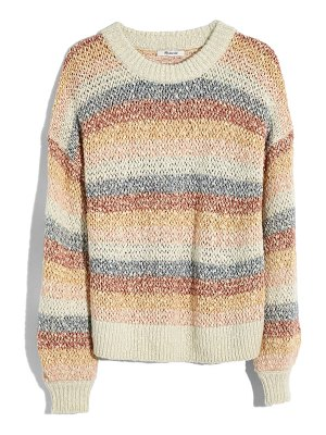Madewell baez pullover sweater in stripe