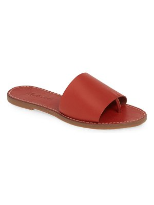 Madewell boardwalk post slide sandal