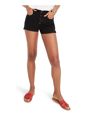 Madewell button front high waist shorts