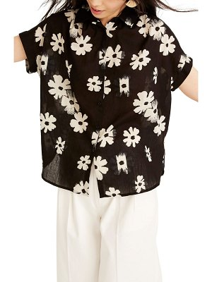 Madewell central floral print shirt