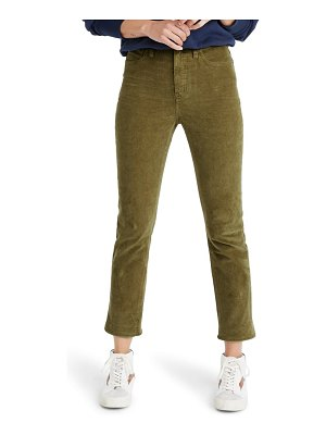 Madewell classic corduroy straight jeans