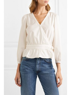 Madewell cotton-blend wrap top