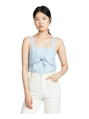 Madewell denim tie front cami