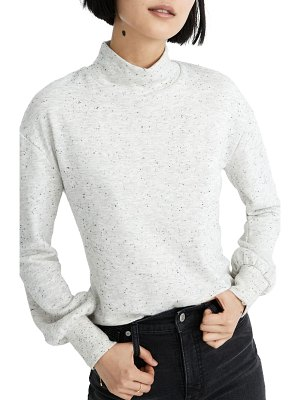 Madewell donegal mock neck bubble sleeve sweatshirt