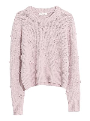 Madewell dotted bobble pullover sweater