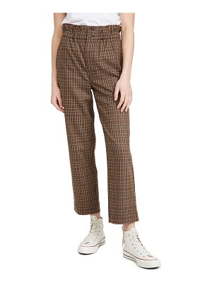 Madewell plaid paperbag tapered pants