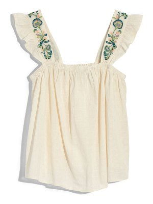 Madewell embroidered strap swing top