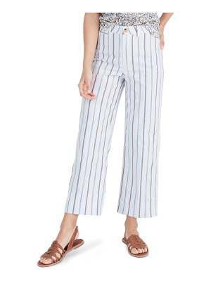Madewell emmett slim wide leg crop pants