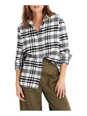 Madewell flannel ex-boyfriend plaid shirt