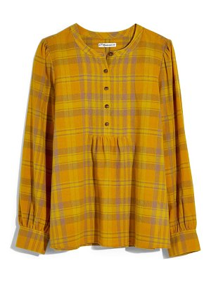 Madewell flannel leysfield popover shirt