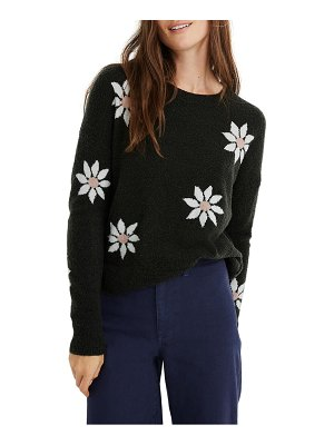 Madewell floral intarsia pullover sweater