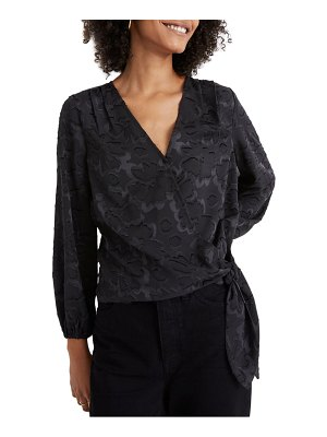 Madewell floral jacquard wrap top