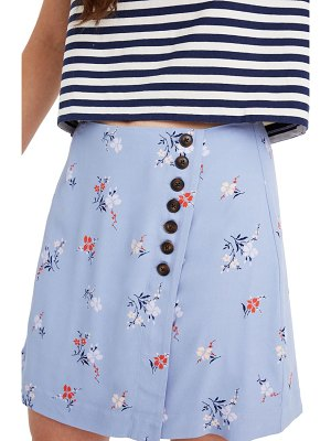 Madewell floral side button miniskirt