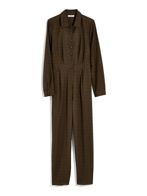 Madewell grid dot seamed coverall jumpsuit