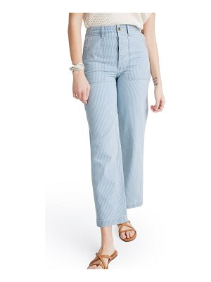 Madewell griff railroad stripe fatigue pants