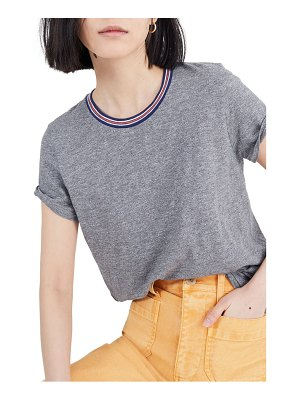 Madewell heather mercury whisper cotton ringer tee