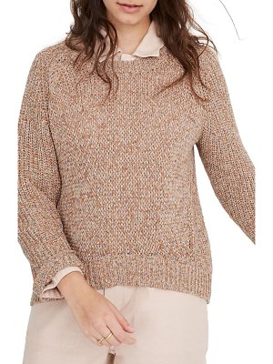 Madewell marled beverly pullover sweater