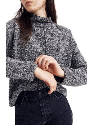Madewell marled mock neck top
