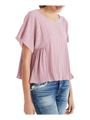 Madewell micropleat top