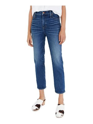 Madewell mid rise classic straight jeans